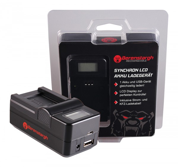 BERENSTARGH Synchron USB Charger f. Casio NP-70 Exilim EXZ150 EX-Z150 EXZ155 EX-Z155 EXZ250 EX-Z250