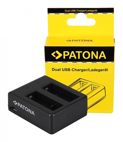PATONA chargeur double pour SJCAM SJ4000 SubTig3 Rollei Actioncam 220 300 300 Plus 310 330 415 416 426 530 560câble Micro-USB