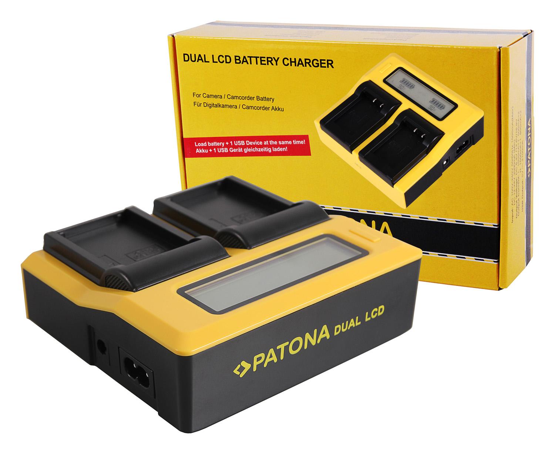 PATONA LCD USB Ladegerät für Akku LP-E6 LPE6 LP-E6N LPE6N Serie ACCU Charger Set