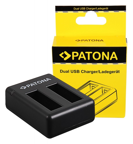 PATONA Dual Charger f. Insta360 One X Action Cam incl. Micro-USB cable