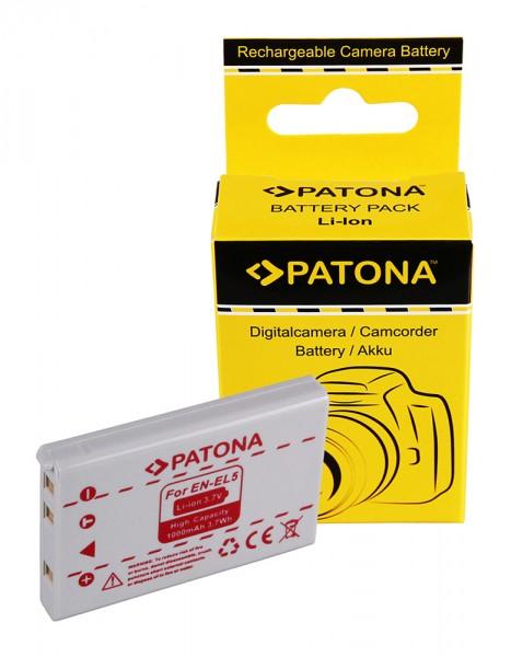 PATONA Akku f. Nikon EN-EL5 COOLPIX 3700 4200 5200 7900 P5000