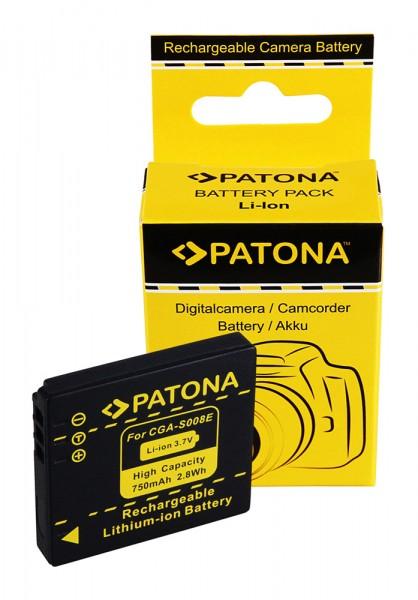 PATONA Akku f. Panasonic DMC-FX30 FX-30 CGA-S008E DMW-BCE10E