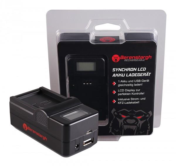 Berenstargh Synchron USB Ladegerät f. Kodak LB-070 PIXPRO S1 S-1