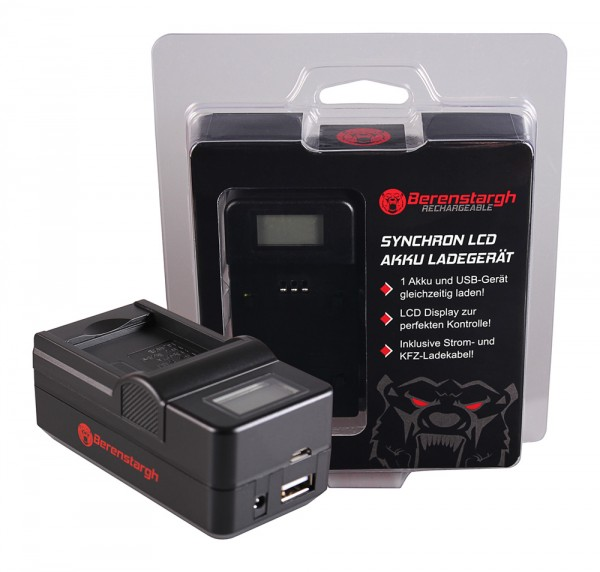Berenstargh Synchron USB Ladegerät f. Rollei RL410B Actioncam 230 240 410 410B 420
