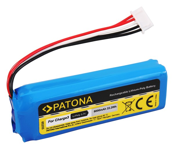 PATONA Battery f. JBL Charge 3 BL GSP1029102A