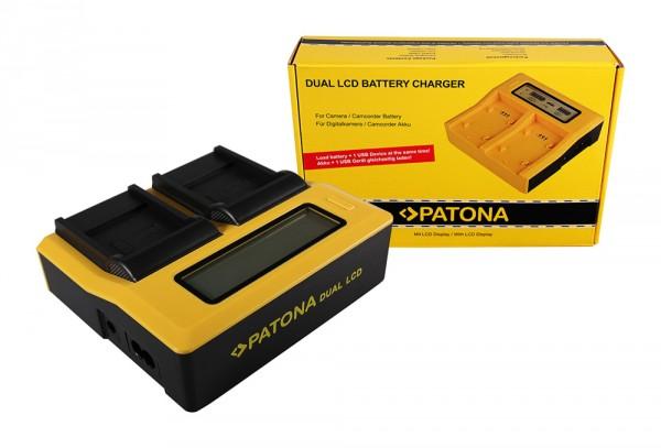 PATONA Dual LCD USB Chargeur pour BENQ Casio NP-40 Exilim DC P500 E520 E520+ E610 Casio NP-40