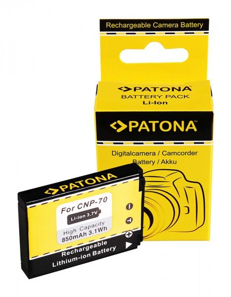 PATONA Akku f. Casio NP-70 Casio Exilim EX-Z150 EX-Z155 EX-Z250
