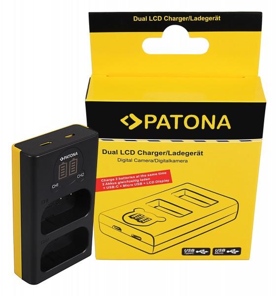 PATONA Dual LCD USB Charger f. Panasonic DMW-BLJ31 Lumix DC-S1 DC-S1R DC-S1H