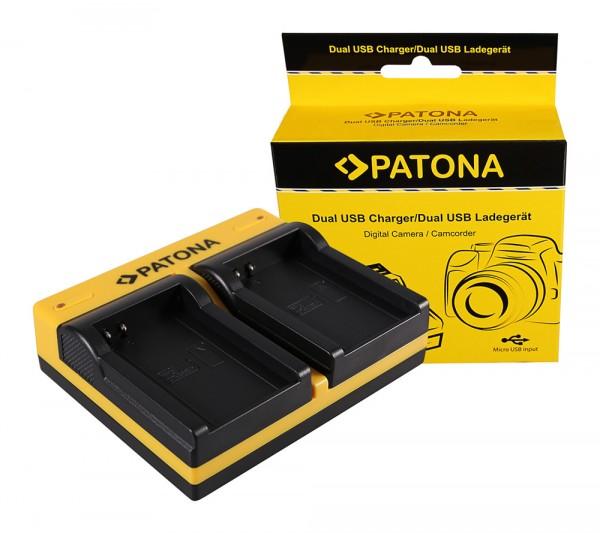 PATONA Dual LCD USB Chargeur pour Contour GPS Contour CT-3650 Scientific HD 1080P
