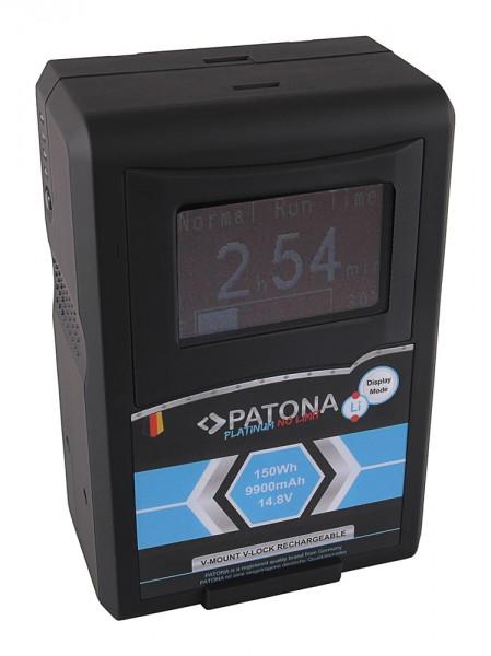 PATONA Platinum LCD Akku RED ARRI V-Mount 150Wh f. Sony DSR 250P 600P 650P 652P HDW 800P PDW 850 BP-
