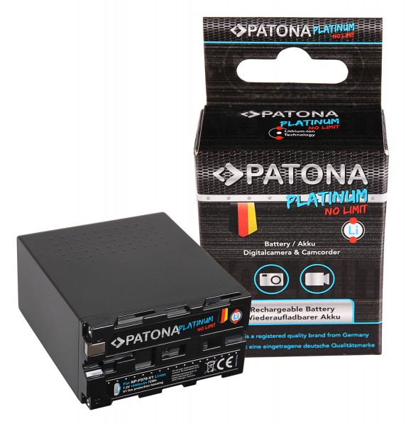 PATONA Platinum Battery f. Sony NP-F970 NP-F960 NP-F950 with Tesla cells in heat resistant V1 case 10.000mAh
