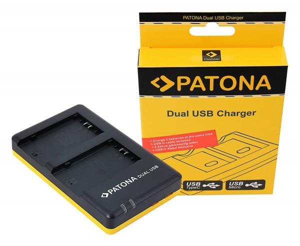 PATONA Dual Schnell-Ladegerät f. Sony NP-FZ100 A7 III A7M3 Alpha 7 III A7 R III A7RM3 Alpha 7 R III