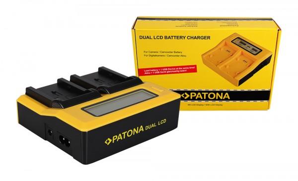PATONA Dual LCD USB Ladegerät f. Canon NB-2L BP2L12 BP-2L12 BP2L14 BP-2L14