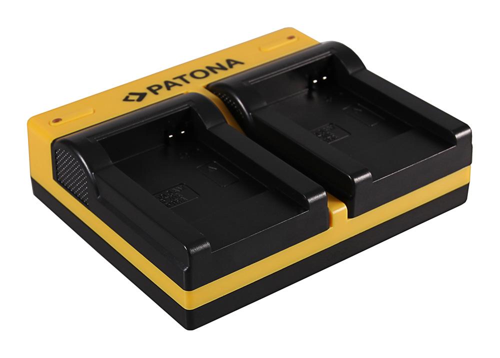 PATONA Dual Ladegerät f. Canon Samsung BP 70A EOS C300 C300 PL Samsung BP 70A HA HA H1S inkl. Micro