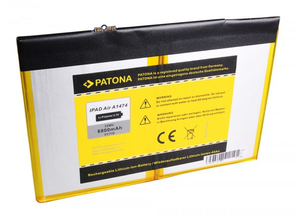 PATONA Batterie pour Apple IPAD 5 IPAD Air A1474 iPad 5 A1474 A1475 Air MD785LL/A
