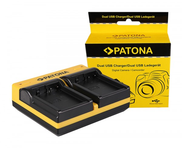 PATONA Dual LCD USB Chargeur pour Leica Panasonic DMW-BLC12PP V-Lux 4 Panasonic DMW-BLC12PP