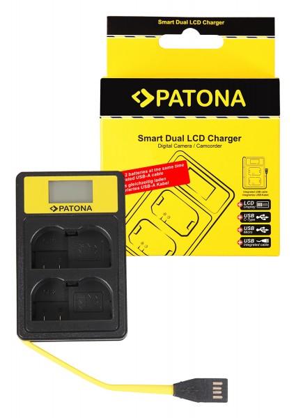 PATONA Smart Dual LCD USB Ladegerät f. Nikon EN-EL15 ENEL15 D600 D610 D7000 D7100 D800 D8000 D800E D