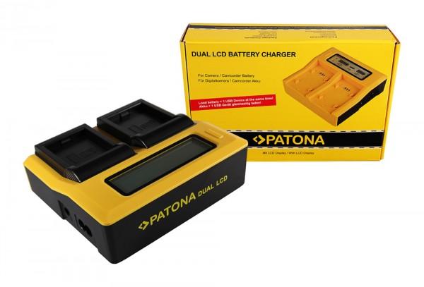 PATONA Dual LCD USB Chargeur pour GoPro GoPro AHDBT-001 HD Hero 1 2 HD HD Helmet Hero HD