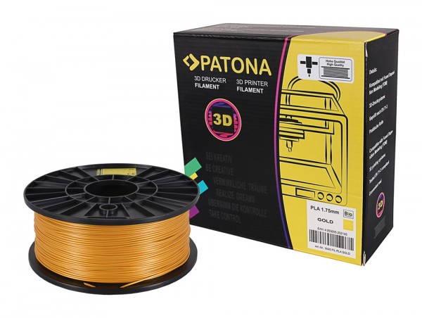 PATONA 1.75mm gold PLA 3D printer Filament