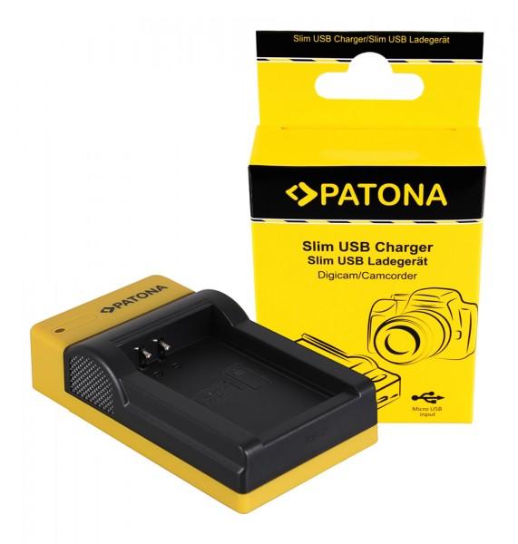 PATONA Slim micro-USB Charger f. Canon LP-E12 EOS M