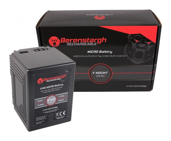 Berenstargh MICRO V145 V-Mount Battery 142Wh f. Sony DSR 600P, 650P, 652P, HDW 800P, PDW 850, BP-150w, RED ARRI
