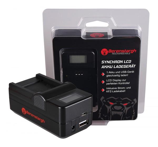 BERENSTARGH Dual LCD USB Chargeur pour Fujifilm Fuji NP-50 D-LI68 Klic-7004 FinePix F100fd F50fd F60fd