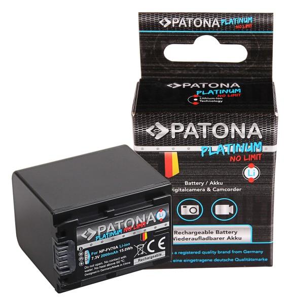 PATONA Platinum Akku f. Sony NP-FV70 FDR-AX40 FDR-AX45 FDR-CX680 NEX-VG30
