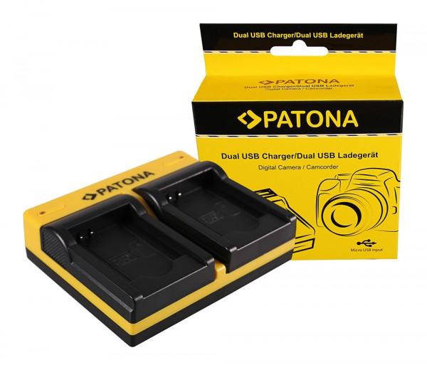PATONA Dual Ladegerät f. Panasonic DMW-BCL7 Lumix F5 FH50 FS50 SZ3 SZ9 XS1 inkl. Micro-USB Kabel