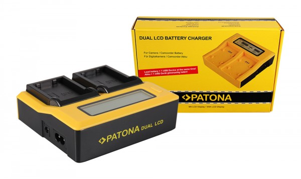 PATONA Dual LCD USB Ladegerät f. Nikon ENEL9 EN-EL9