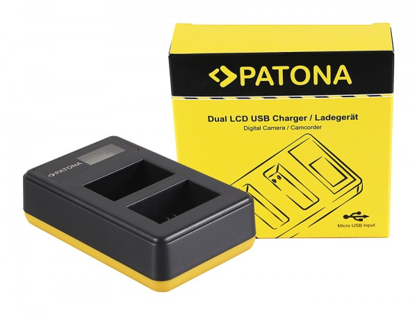 PATONA Dual LCD USB Ladegerät f. Sony NP-FW50 NEX A33 A55 NEX.3 NEX.3C NEX.5 NEX.5A NEX.5C