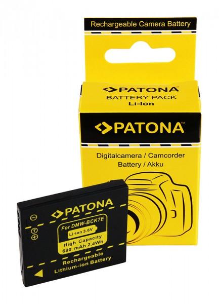 PATONA Akku f. Panasonic DMC-FH2 FH5 FH7 FH25 DMW-BCK7E