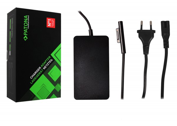 PATONA Charger Surface Pro 6 Pro 5 Pro 4 Pro 3 Modell 1796 Adapter 44W with USB Output
