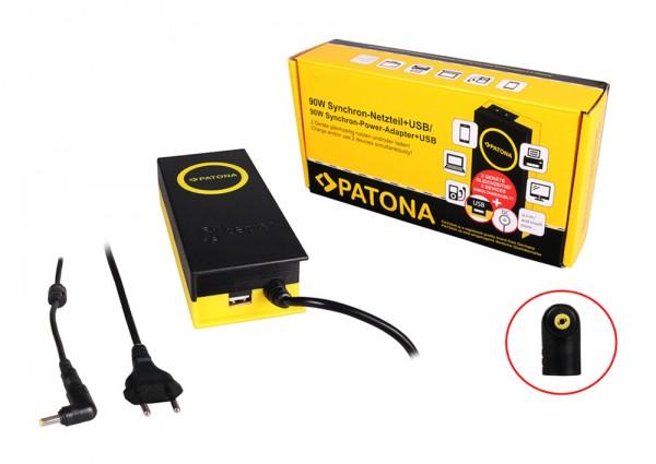 PATONA 90W Synchron Netzteil 4,8x1,7x12mm 19V inkl. USB Ausgang 2,1A
