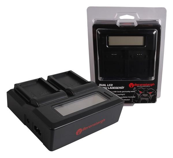 Berenstargh Dual LCD USB Charger f. Fujifilm Fuji NP-T125 GFX50R GFX50S