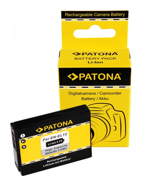 PATONA Akku f. Nikon CoolPix P300 S70 S710 S610 S610c S620 ENEL12