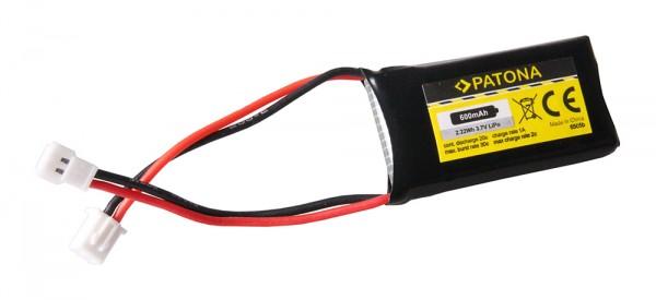 PATONA RC Akku 3,7V 600mAh Walkera Li-Polymer für Syma X5 Drohne, Walkera CB100,