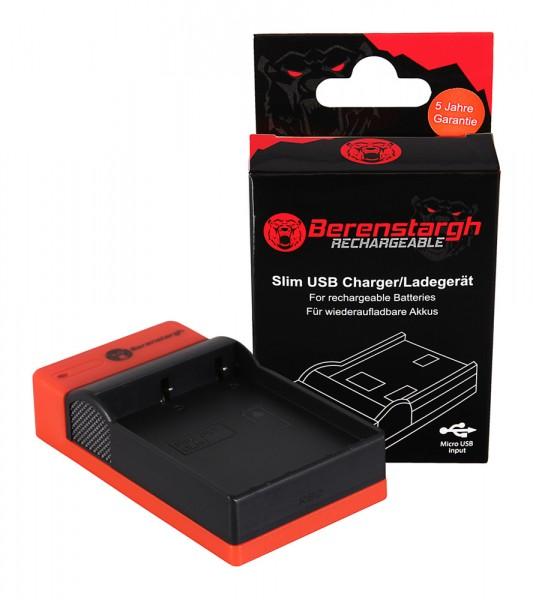 Berenstargh Slim micro-USB Charger f. Olypmus BLH-1 EM-1 Mark 2 EM-1 Mark II OM-D OM-D EM-1 Mark 2 OM-D EM-1 Mark II