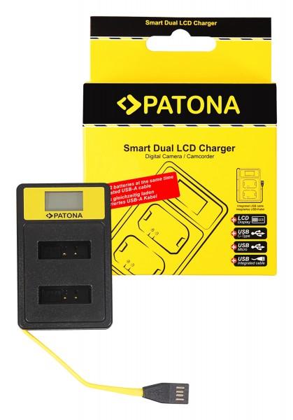 PATONA Smart Dual LCD USB Charger f. Canon NB-13L PowerShot G5 X G5X G7 X G7 X Mark II G7X G9 X G9X