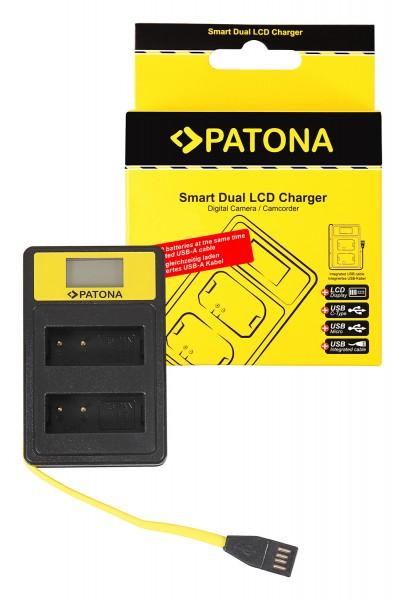 PATONA Smart Dual LCD USB Charger f. Panasonic DMW-BLG10 CSBLG10MC CS-BLG10MC DMWBLG10 DMW-BLG10