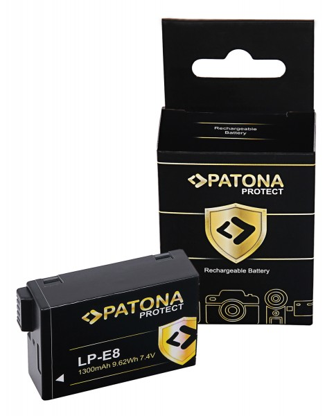 PATONA PROTECT Battery f. Canon EOS 550D 600D 650D 700D LPE8 LP-E8 LP-E8+