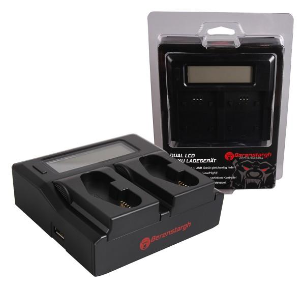 Berenstargh Dual LCD USB Charger f. Canon LP-E4 LP-E19 EOS 1D 1DS Mark III 1D Mark IV 1DX Mark II
