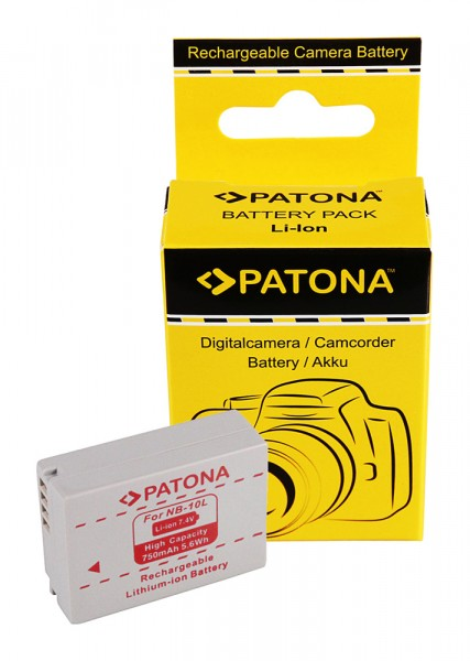 PATONA Akku f. Canon NB-10L NB10L Powershot SX40 HS Powershot SX-40HS SX40HS