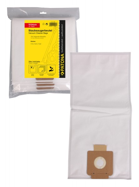 PATONA 10 vacuum cleaner bag multi layer fleece f. Kärcher T 7/1 T9/1 T10/1 6.904-084.0