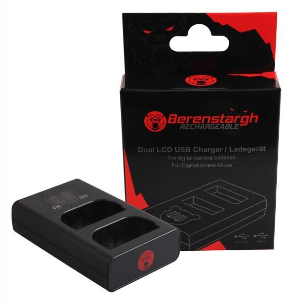 Berenstargh Dual LCD USB Ladegerät f. Canon LP-E6 5D 60D 60Da 6D 7D EOS-70D