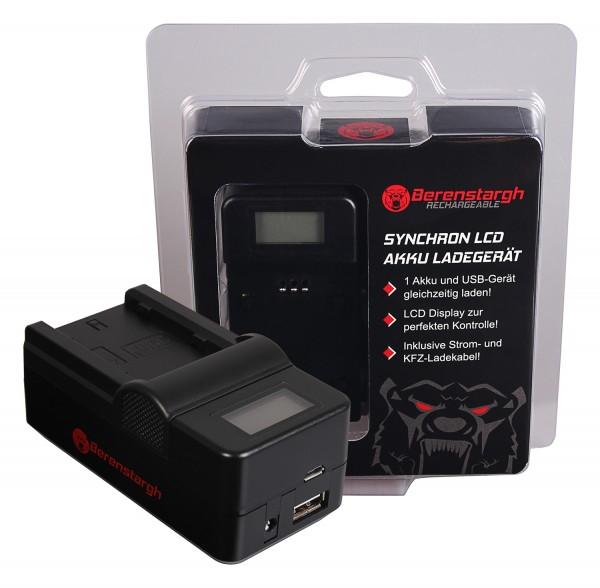 Berenstargh Synchron USB Charger f. Fuji NP-W235 Fujifilm X-T4 XT4 XT-4